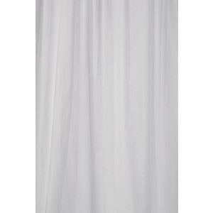 Croydex PVC Shower Curtain - White