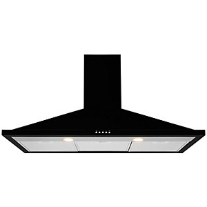 Leisure 100cm Black Chimney Cooker Hood H102PK