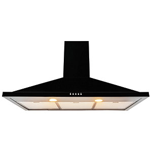 Leisure 90cm Black Chimney Cooker Hood H92K