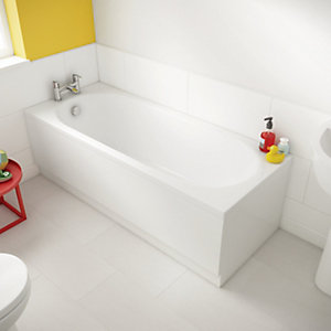 Universal End Bath Panel - White 700mm