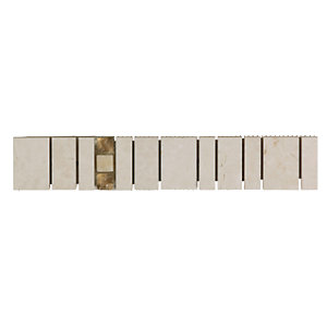 Wickes Belmont Stone Effect Border Tile 275 x 50mm