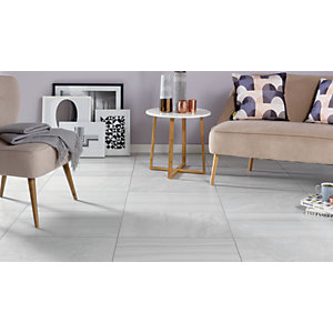 Wickes Stone Mix Silver Porcelain Wall & Floor Tile - 600 x 400mm