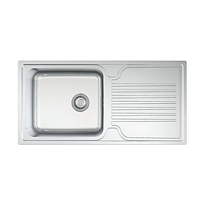 Linear 1 Bowl Kitchen Sink - Stainless Steel
