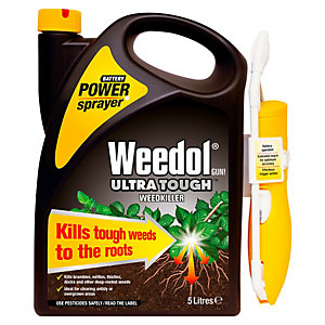 Image of Weedol Ultra Tough Ready to Use Weed Killer Power Sprayer - 5L