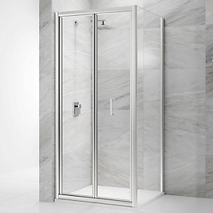 Nexa By Merlyn 6mm Bifold Chrome Framed Shower Door Only - 760mm