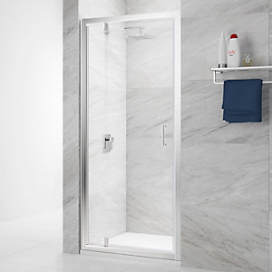 Nexa By Merlyn 6mm Pivot Chrome Framed Shower Door Only - 760mm