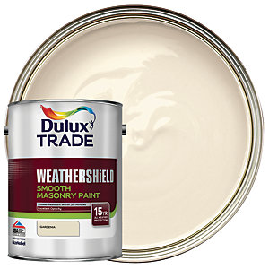 Dulux Trade Weathershield Smooth Masonry Paint - Gardenia 5L