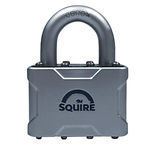 Squire Die Cast Body Cover with Boron Shackle Padlock - 50mm