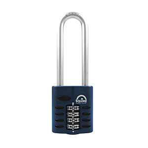 Squire Combination Padlock with Extra Long Hardened Steel Shackle - 40mm