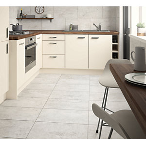 Wickes City Stone Grey Ceramic Wall & Floor Tile - 600 x 300mm