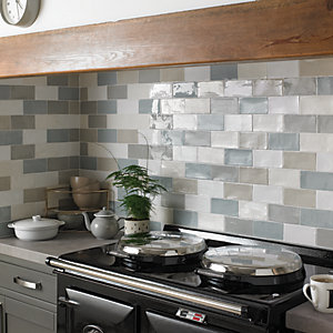 Wickes Farmhouse Willow Ceramic Wall Tile - 150 x 75mm