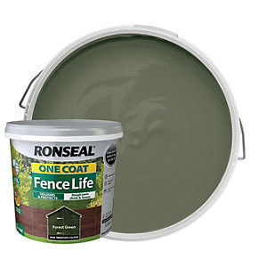 Ronseal One Coat Fence Life Matt Shed & Fence Treatment - Forest Green 5L