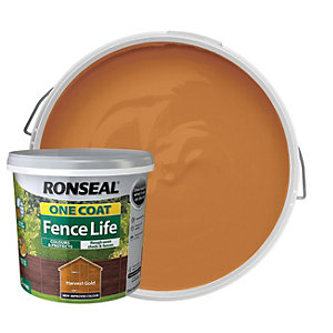 Ronseal One Coat Fence Life Matt Shed & Fence Treatment - Harvest Gold 5L