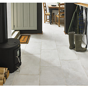 Wickes Como Limestone Porcelain Wall & Floor Tile 600 x 400mm