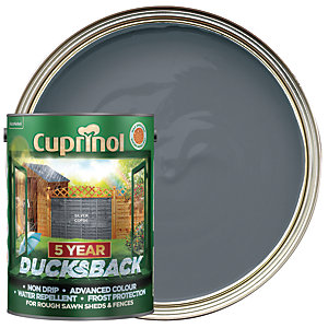 Cuprinol 5 Year Ducksback Matt Shed & Fence Treatment - Silver Copse 5L