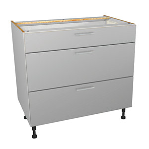 Wickes Orlando Grey Gloss Slab Drawer Unit - 900mm (Part 1 of 2)