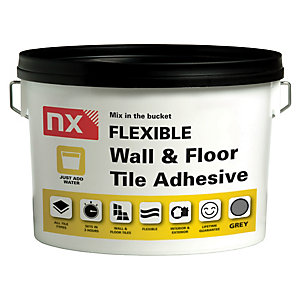 Norcros Flexible Wall & Floor 'Bag in a Bucket' Tile Adhesive 15kg