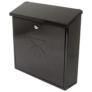 Sterling Contemporay Post Box - Black
