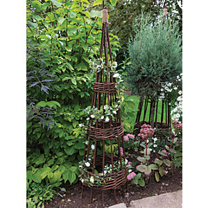 Forest Garden Concentric Willow Obelisk 1.2m - Pack of 2