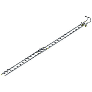 Youngman Double Section 8.25m Aluminium Roof Ladder