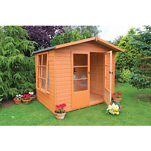Shire Winton Double Door Summerhouse with Large Side Window - 8 x 6 ft