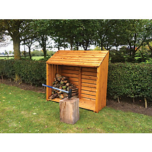 Shire 5 x 2ft Large Overlap Timber Dip Treated Log Store