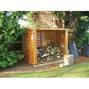 Shire 6 x 3ft Large Timber Dip Treated Log Store