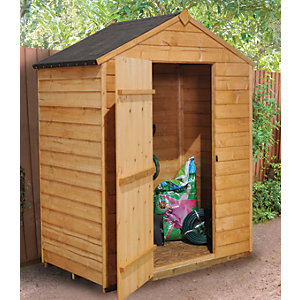 Forest Garden 5 x 3ft Windowless Overlap Apex Dip Treated Shed