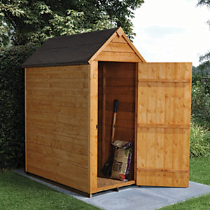 Forest Garden 3 x 5ft Small Windowless Overlap Apex Dip Treated Shed