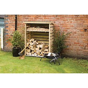 Rowlinson 4 x 2ft Small Pressure Treated Timber Log Store