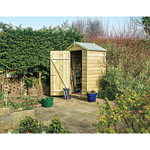 Rowlinson Oxford 4 x 3ft Small Windowless Shiplap Apex Shed