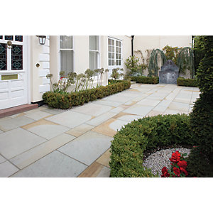 Marshalls Scoutmoor Smooth Diamond Sawn Paving Slab Mixed Size - 18 m2 pack