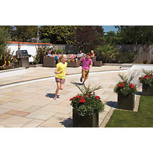 Marshalls Sawn Versuro Smooth Golden Sand Paving Slab 1000 x 750 x 30 mm - 10.5m2 pack