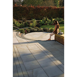 Marshalls Sawn Versuro Smooth Autumn Bronze Paving Slab 1000 x 750 x 30 mm - 10.5m2 pack