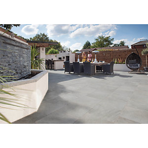 Marshalls Symphony Smooth Grey 595 x 595 x 20mm Porcelain Paving Slab - Pack of 64