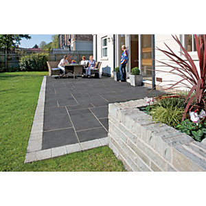 Marshalls Aluri Limestone Riven Charcoal Paving Slab 845 x 560 x 22 mm - 16.562m2 pack