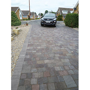 Marshalls Drivesett Natrale Textured Driveway Block Paving - Slate 120 x 160 x 50mm Pack of 540