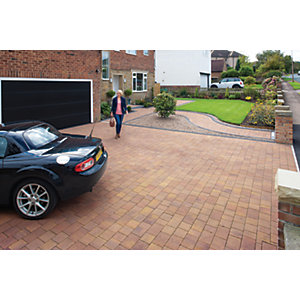 Marshalls Drivesett Savanna Textured Autumn Driveway Block Paving 120 x 160 x 50mm - Pack of 540