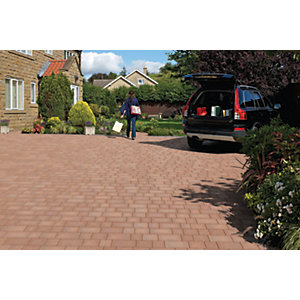 Marshalls Drivesett Savanna Textured Traditional Driveway Block Paving 120 x 160 x 50mm - Pack of 540