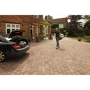Marshalls Drivesett Tegula Textured Driveway Block Paving - Autumn 160 x 160 x 50mm Pack of 426