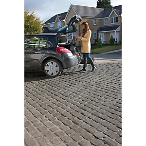 Marshalls Drivesys Textured Original Cobble Driveway Block Paving Pack Mixed Size - Iron Grey 10.93 M2