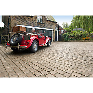 Marshalls Drivesys Original Cobble Textured Driveway Block Paving Pack Mixed Size - Canvas 10.93 M2