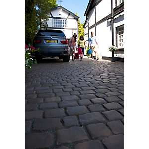 Marshalls Drivesys Textured Original Cobble Block Paving Driveway Pack - Iron Grey 10.93 M2