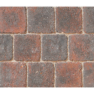 Marshalls Drivesett Deco Textured Driveway Block Paving Pack Mixed Size - Cinder 10.367 m2