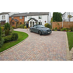 Marshalls Drivesett Deco Textured Driveway Block Paving Pack Mixed Size - Traditional 10.367 m2