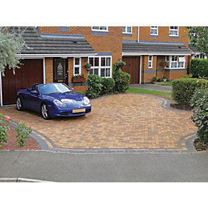 Marshalls Driveline 50 Smooth Driveway Block Paving - Bracken 200 x 100 x 50mm Pack of 488
