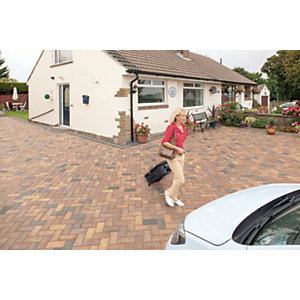 Marshalls Driveline 50 Smooth Driveway Block Paving - Burnt Ochre 200 x 100 x 50mm Pack of 488