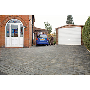 Marshalls Driveline 50 Smooth Driveway Block Paving - Pewter 200 x 100 x 50mm Pack of 488