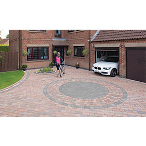 Marshalls Drivesett Tegula Textured Driveway Circle Paving Kit - Pennant Grey 5.31 m2