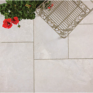 Marshalls Lazaro Marble Smooth Shell Paving Slab Mixed Size - 12.32 m2 pack